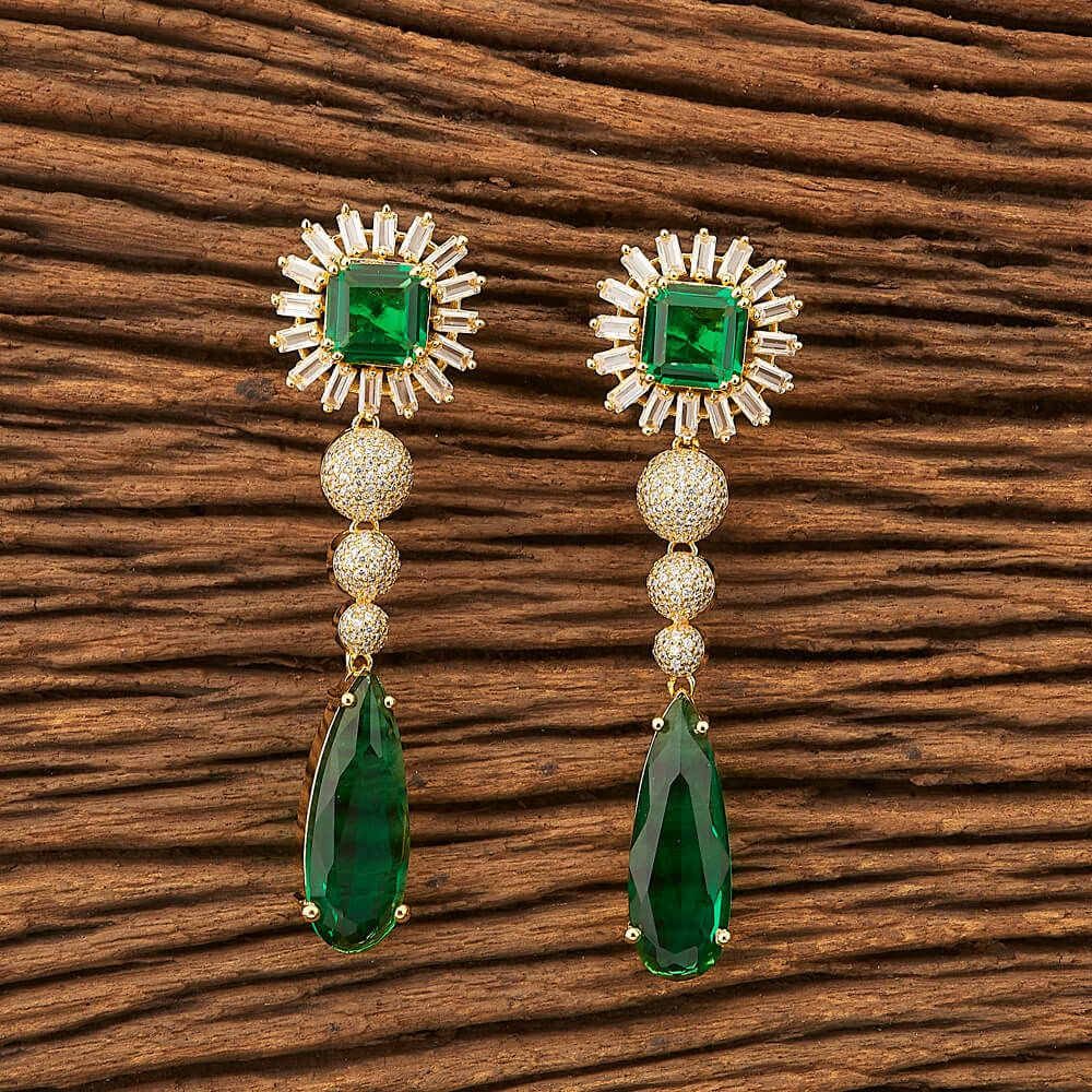 CZ Classic Earring with gold plating