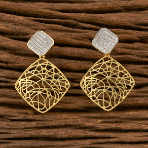 Cubic zirconia Earring with gold plating