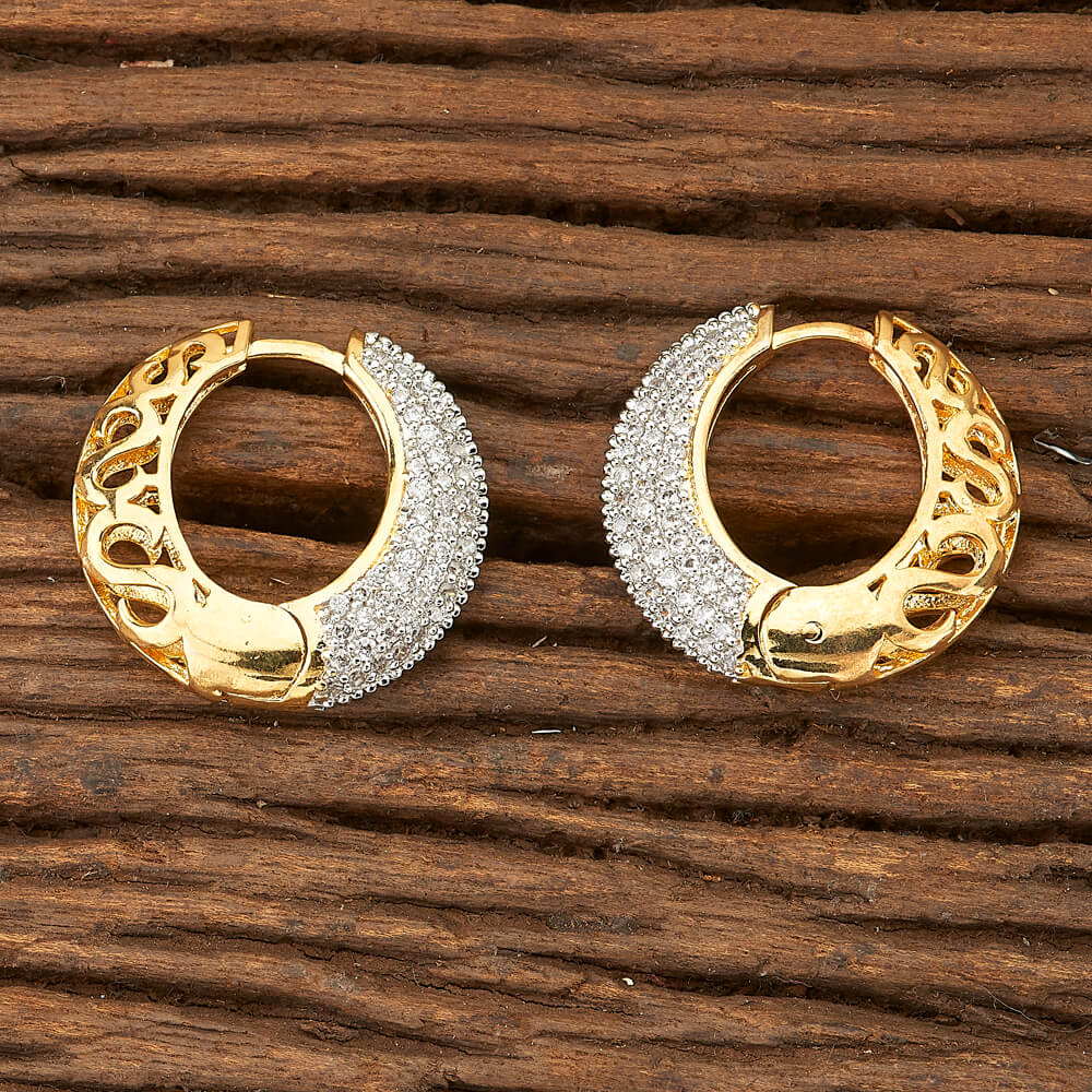 Cubic zirconia Bali Earrings with gold plating