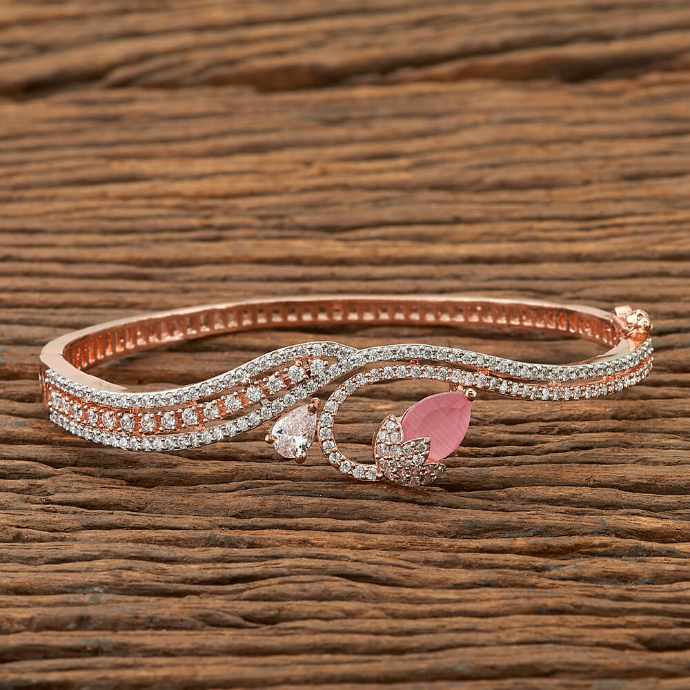 Cubic zirconia Classic Kada with Rose Gold plating