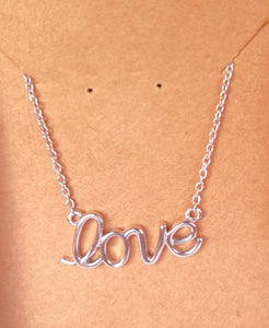 925 Silver Pendant Set In LOVE Design