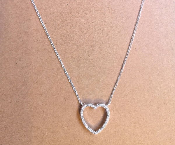 925 Silver Necklace In HEART Design