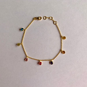 925 Silver Multi Color Bracelet With Zirconia Stones