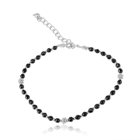 925 Silver Bracelet With Black Onyx Gemstone