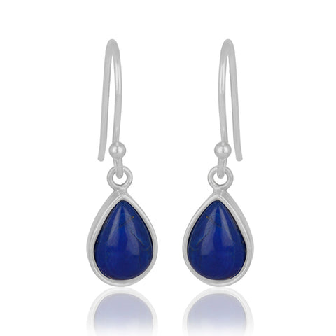925 Silver Drop Earrings With Gemstone Lapis Lazuli