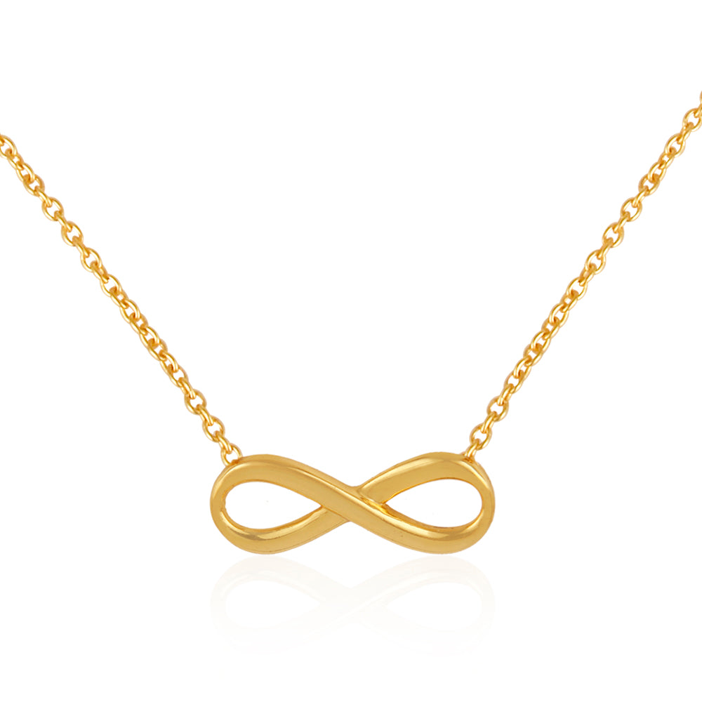 925 Silver Necklace In Infinity Design