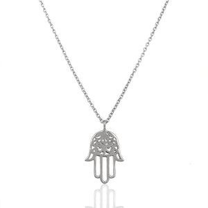 925 Silver Necklace In Hand Hamsa Design