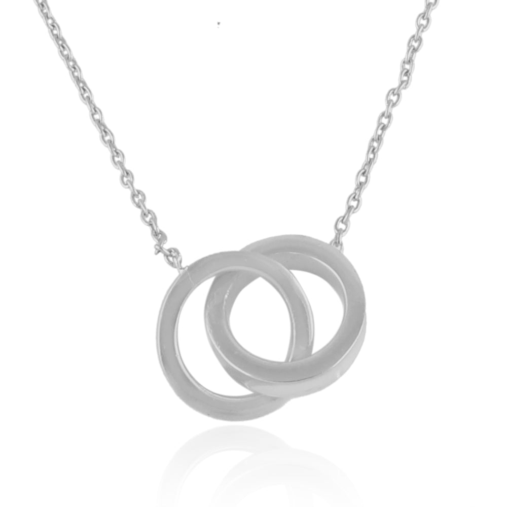 925 Silver Necklace In Connected Circle Design