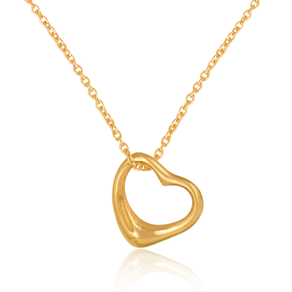 925 Silver Necklace In Dainty Heart Design