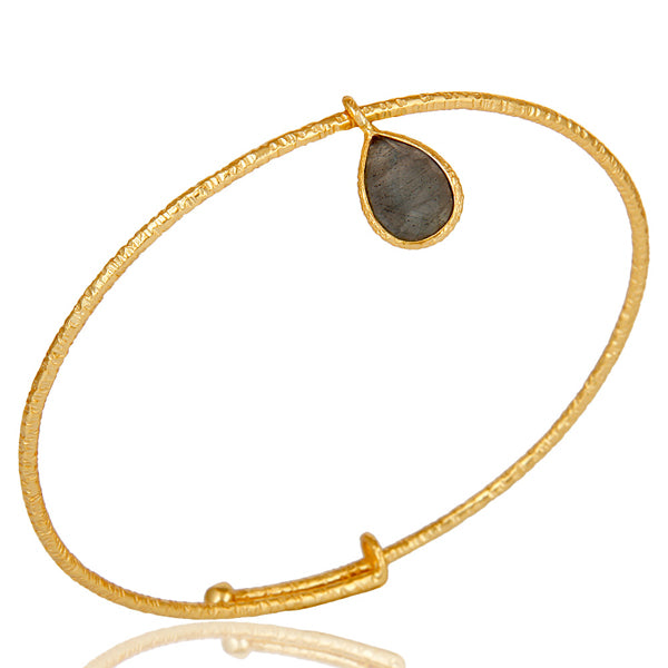 925 Silver Bangle in Gemstones