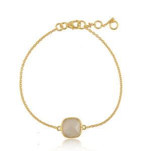 925 Silver Bracelet With Moonstone Gemstone - Cozy Cushion Collection