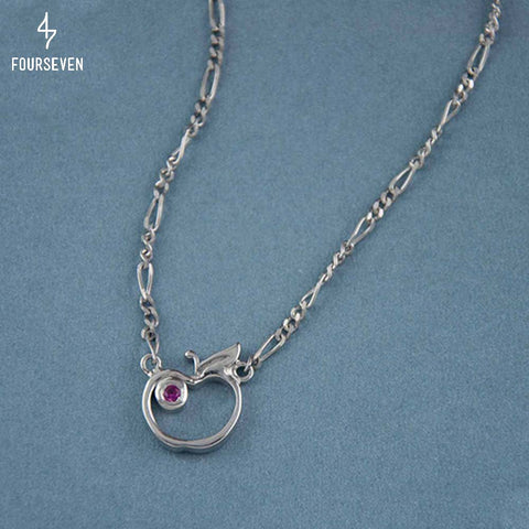925 Silver An Apple A Day Necklace