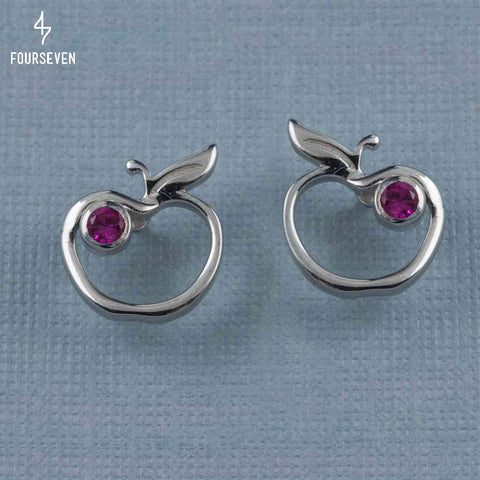 925 Silver An Apple A Day Stud Earrings