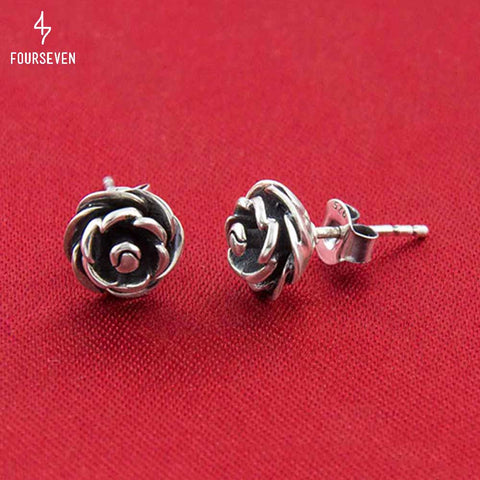 925 Silver Blooming Rose Earrings