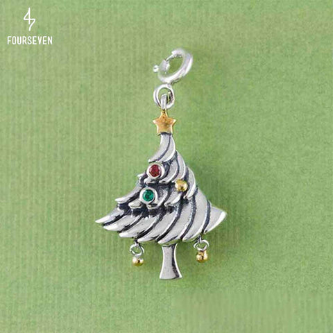 925 Silver Oh Christmas Tree Charm