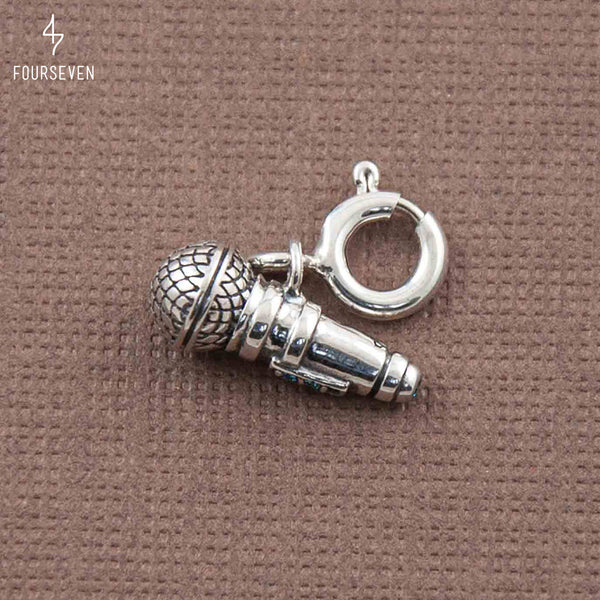 925 Sing Your Heart Out Microphone Charm