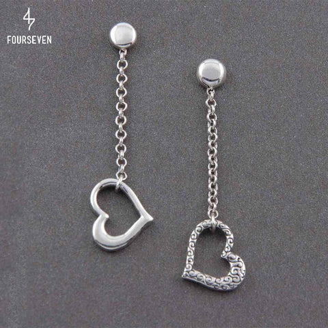 925 Silver SweetHeart Dangler Earrings