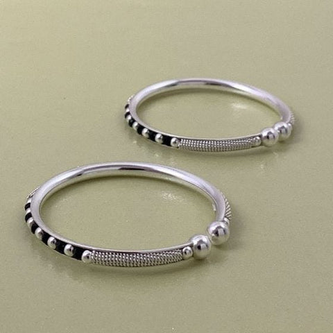 925 Silver Adjustable Baby Bangle Set