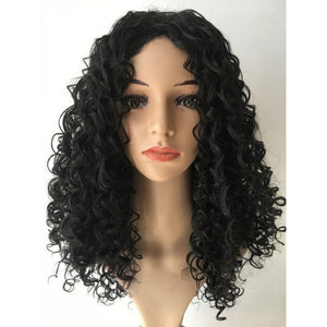 HAIRSASA | Attractive Black Long Water Wave Capless Synthetic Hair Wig