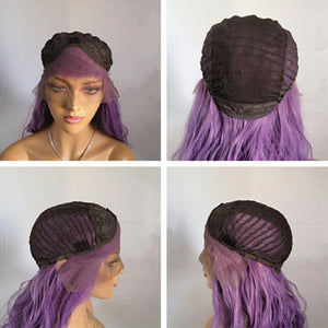 HAIRSASA | Attractive Purple Long Loose Wavy Lace Front Synthetic Hair Wig