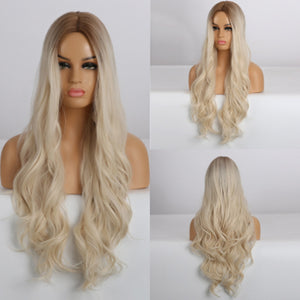 HAIRSASA | Pretty Blonde Loose Wavy Heat Resistant Synthetic Hair Wig