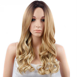HAIRSASA | Graceful Blonde Long Loose Wavy Heat Resistant Synthetic Hair Wig