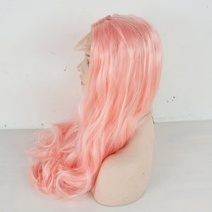 HAIRSASA | Middle Part Body Wave Wig | 13x4 Lace Front | Synthetic Wig | 150% Density | Pink | 16/18/20/22/24/26 Inch