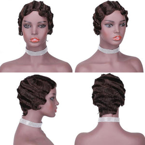 HAIRSASA | Pretty Short Finger Wave Human Hair Wig