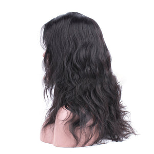 HAIRSASA | Brazilian Body Wave Fake Scalp Wig | 360 Lace Front | Human Wig | 150% Density | Black | 16/18/20/22 Inch