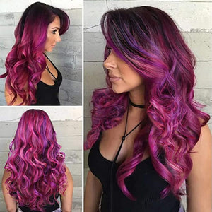 HAIRSASA | Sexy Purple Long Loose Deep Heat Resistant Synthetic Hair Wig