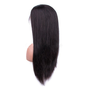 HAIRSASA | Brazilian Middle/Side Part Straight Wig | Full Lace Front | Human Wig | 150% Density | Black | 8/10/12/14/16/18/20/22/24/26/28 Inch