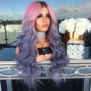 HAIRSASA | Attractive Gradient Long Loose Wavy Capless Synthetic Hair Wig