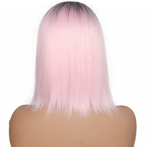 HAIRSASA | Middle Part Straight Wig | 13x4 Lace Front | Synthetic Wig | 150% Density | Ombre | 18 Inch