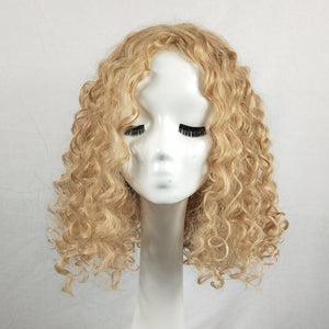 HAIRSASA | Short Deep Wave Wig | 13x4 Lace Front | Synthetic Wig | 150% Density | Black/Gold/Brown/Burgundy | 16 Inch
