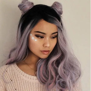HAIRSASA | Fashion Purple Dyed  Long Loose Wave Synthetic Hair Wig