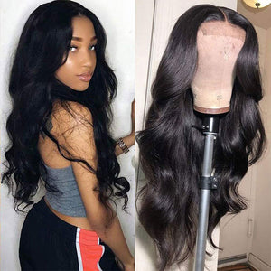 HAIRSASA | Natural Black Long Loose Wave Lace Front Synthetic Hair Wig