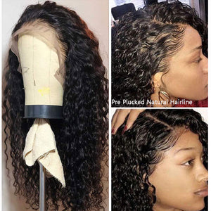 HAIRSASA | Pretty Black Mid-Length Water Wave Lace Front Synthetic Hair Wig
