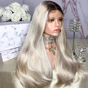 HAIRSASA | Graceful Blonde Long Natural Straight  Heat Resistant Synthetic Hair Wig