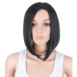 HAIRSASA | Natural Medium Length Bob Style Capless Synthetic Hair Wig
