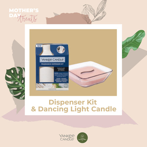 Dispenser Kit with Dancing Light Candle