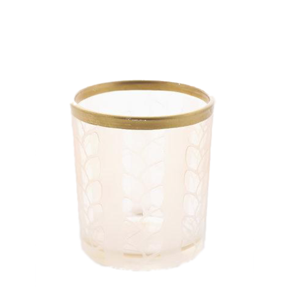 VOTIVE HOLDER MAIZE/METAL BEIGE - PERFECT SERENITY BLISS INC.