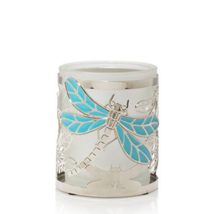 VOTIVE HOLDER DRAGONFLY MTL/GLSS - PERFECT SERENITY BLISS INC.