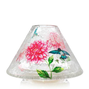 JAR SHADE LG GARDEN CRACKLE - PERFECT SERENITY BLISS INC.