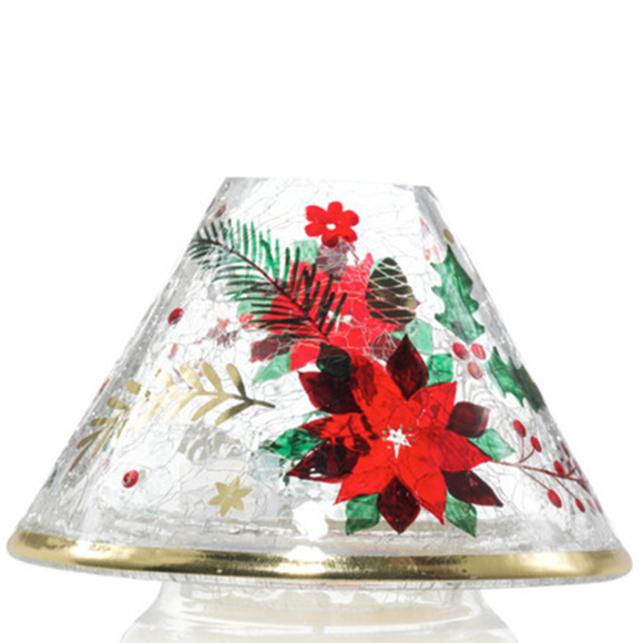 JAR SHADE POINSETTIA