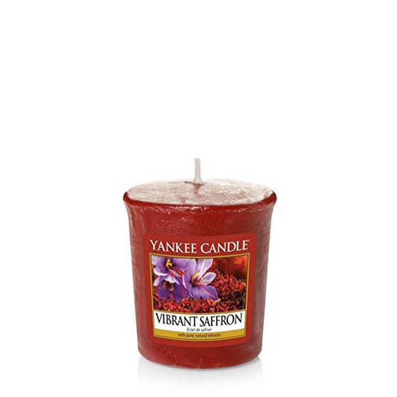 VOTIVE CANDLE VIBRANT SAFFRON (49g) - PERFECT SERENITY BLISS INC.