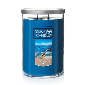 2 WICK TUMBLER LARGE TURQOUISE SKY (623g) - PERFECT SERENITY BLISS INC.