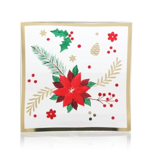 **FOR PRE-ORDER: CANDLESCAPING TRAY POINSETTIA
