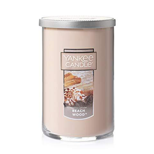 2 WICK TUMBLER LARGE BEACHWOOD (623g) - PERFECT SERENITY BLISS INC.