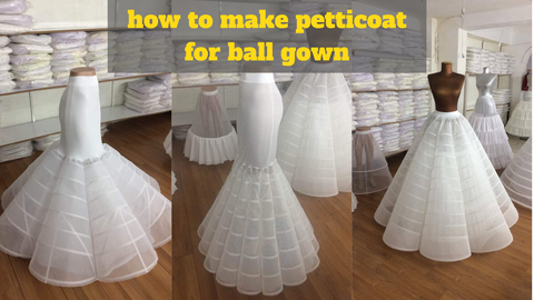 How to make a Petticoat for ball gown step by step 2020