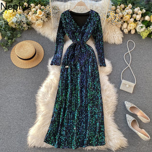 Neploe Sequined Bling Women Dresses Spring 2021